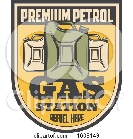 Clipart of a Gas Station Design - Royalty Free Vector Illustration by Vector Tradition SM