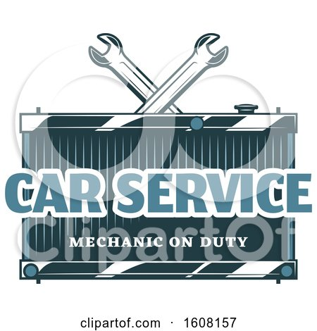 Clipart of a Car Service Design - Royalty Free Vector Illustration by Vector Tradition SM