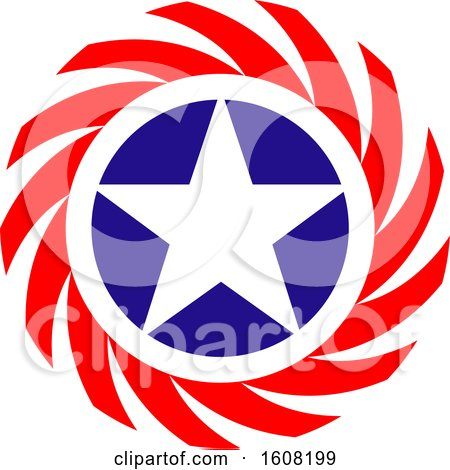 Clipart of a Usa Design with a Star - Royalty Free Vector Illustration by Vector Tradition SM
