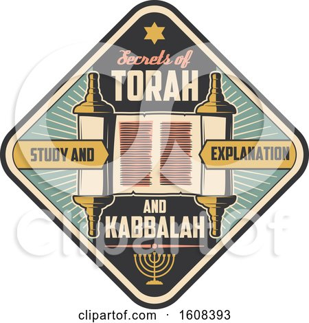 Clipart of a Judaism Torah Design - Royalty Free Vector Illustration by Vector Tradition SM