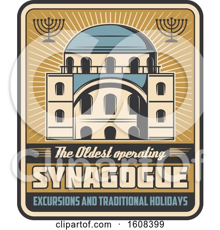 Clipart of a Judaism Synagogue Design - Royalty Free Vector Illustration by Vector Tradition SM