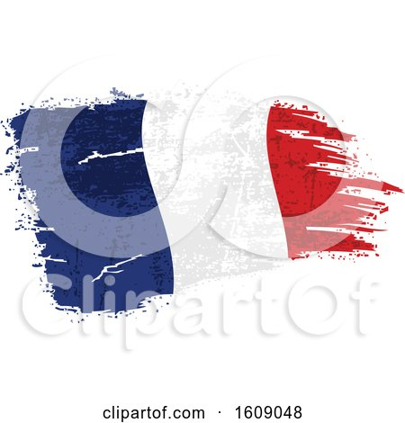 Clipart of a Distressed and Torn French Flag - Royalty Free Vector Illustration by dero