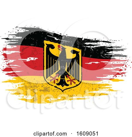 Clipart of a Distressed and Torn Variant Flag of Federal Republic of Germany - Royalty Free Vector Illustration by dero