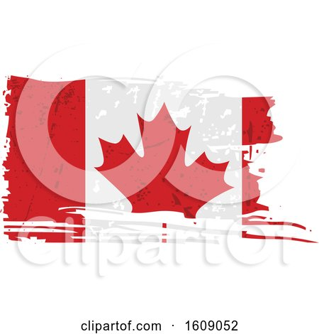 Clipart of a Distressed and Torn Canadian Flag - Royalty Free Vector Illustration by dero