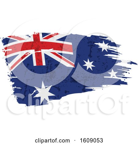 Clipart of a Distressed and Torn Australian Flag - Royalty Free Vector Illustration by dero