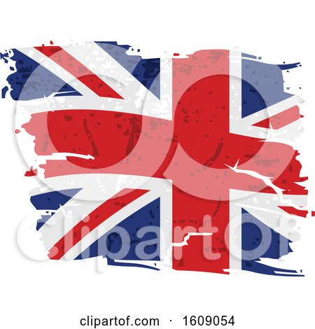 Clipart of a Distressed and Torn Union Jack Flag - Royalty Free Vector Illustration by dero