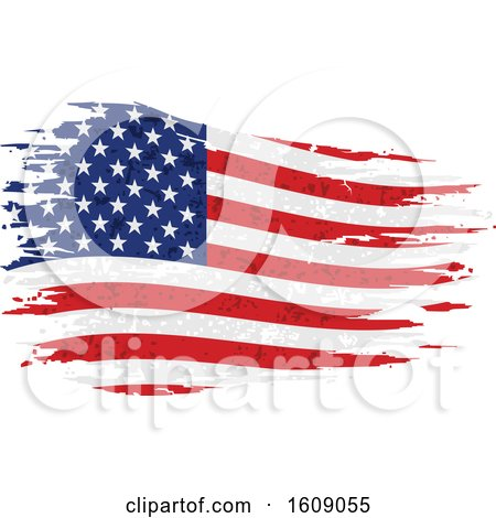 Clipart of a Distressed and Torn American Flag - Royalty Free Vector Illustration by dero