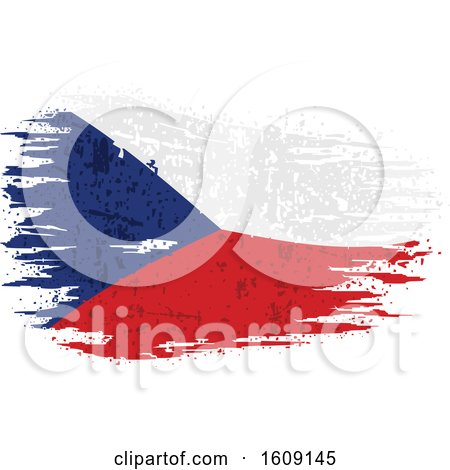 Clipart of a Torn and Distressed Czech Republic Flag - Royalty Free Vector Illustration by dero