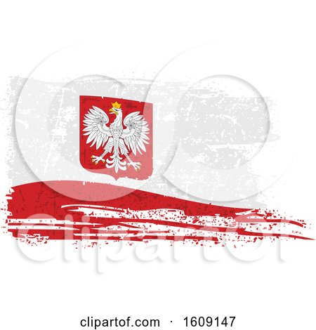Clipart of a Torn and Distressed Poland Flag - Royalty Free Vector Illustration by dero