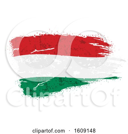 Clipart of a Torn and Distressed Hungarian Flag - Royalty Free Vector Illustration by dero
