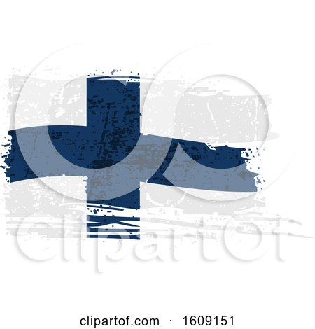 Clipart of a Torn and Distressed Finland Flag - Royalty Free Vector Illustration by dero