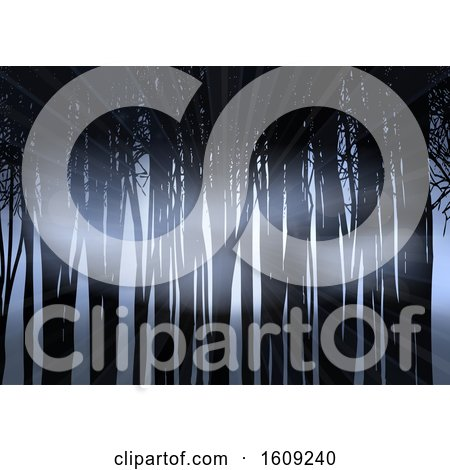 Silhouette of a Forest at Night by KJ Pargeter