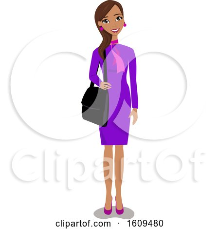 Clipart of a Happy Hispanic Business Woman - Royalty Free Vector Illustration by peachidesigns