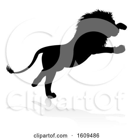 Lion Silhouette by AtStockIllustration