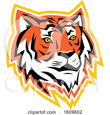 Clipart of a Bay of Bengal Tiger Mascot - Royalty Free Vector Illustration by patrimonio