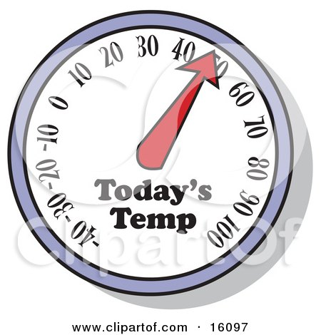 Thermometer Showing The Temperature For The Day Clipart Illustration by Andy Nortnik