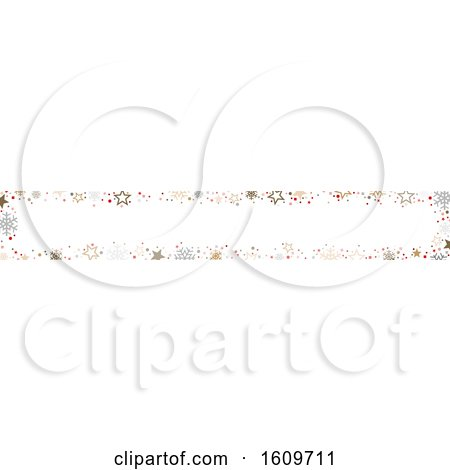 Clipart of a Christmas or Winter Snowflake Website Banner Design - Royalty Free Vector Illustration by dero