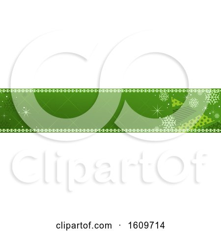 Clipart of a Green Christmas Website Banner Design - Royalty Free Vector Illustration by dero