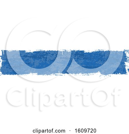 Clipart of a Blue Grungy Website Border or Header Banner - Royalty Free Vector Illustration by dero