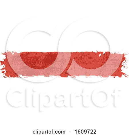 Clipart of a Red Grungy Website Border or Header Banner - Royalty Free Vector Illustration by dero