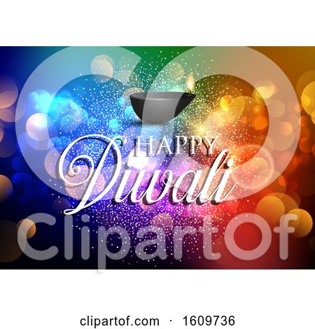 Colourful Diwali Background by KJ Pargeter
