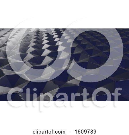 3D Geometric Abstract Hexagonal Wallpaper Background by KJ Pargeter