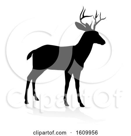 Deer Animal Silhouette by AtStockIllustration