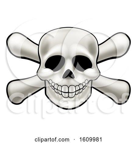 Skull and Crossbones Cartoon by AtStockIllustration