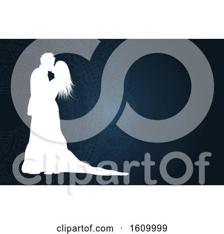 Mandala and Wedding Couple Background by KJ Pargeter