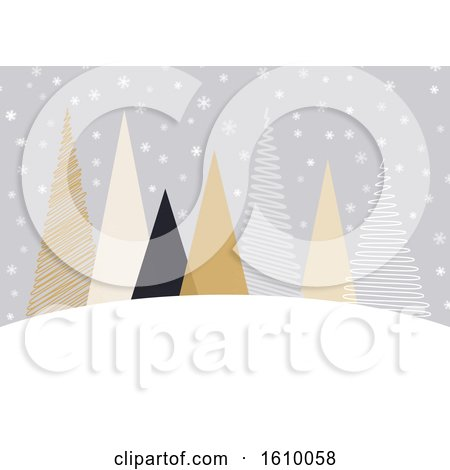 Scandinavian Style Christmas Background by KJ Pargeter