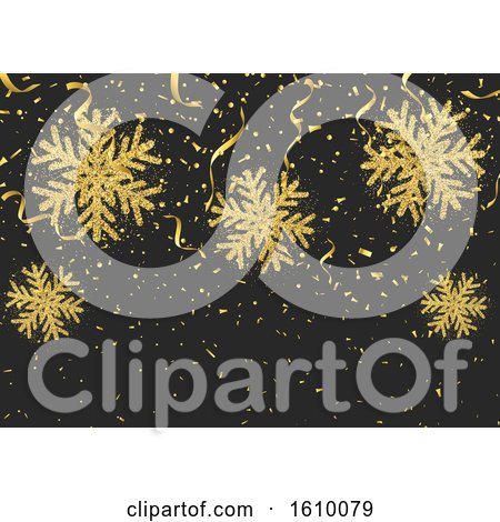 Glitter Style Snowflakes Confetti and Streamers by KJ Pargeter