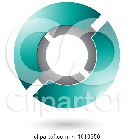 Clipart of a Persian Green Futuristic Sphere - Royalty Free Vector Illustration by cidepix