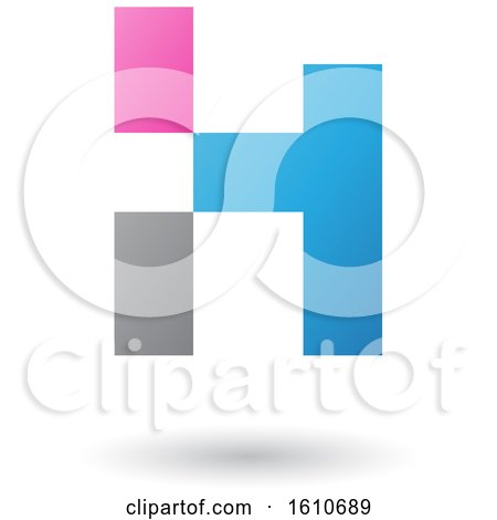 Clipart of a Letter H - Royalty Free Vector Illustration by cidepix