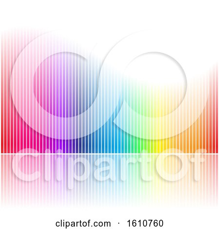 Clipart of a Colorful Stripes Background - Royalty Free Vector Illustration by cidepix
