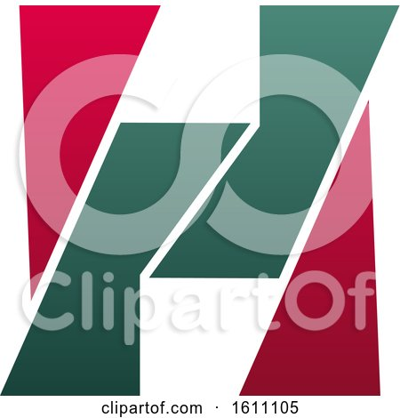 Clipart of a Letter H Logo Design - Royalty Free Vector Illustration by Vector Tradition SM