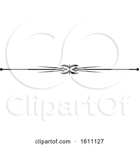Clipart of a Black and White Border Design Element - Royalty Free Vector Illustration by Vector Tradition SM