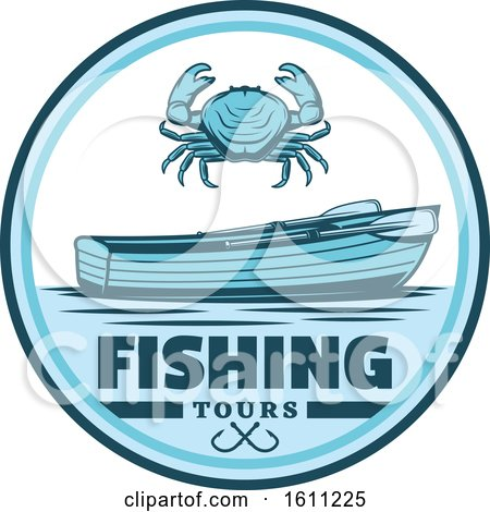Clipart of a Blue Fishing Design - Royalty Free Vector Illustration by Vector Tradition SM