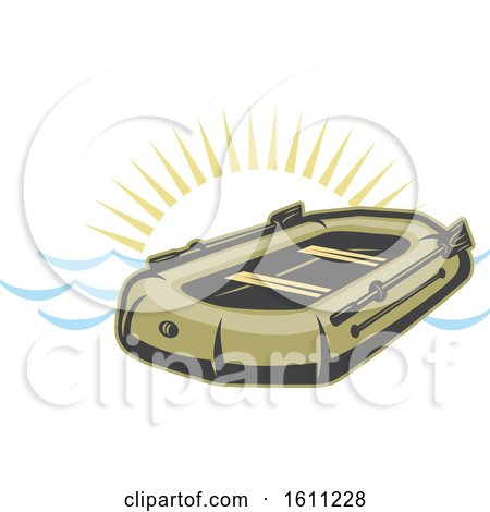 Clipart of a Raft Boat Design - Royalty Free Vector Illustration by Vector Tradition SM