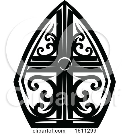 Clipart of a Black and White Cross - Royalty Free Vector Illustration by Vector Tradition SM