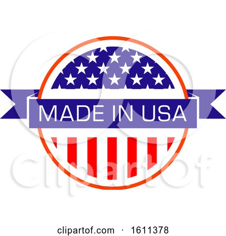 Clipart of a Made in the Usa Design - Royalty Free Vector Illustration by Vector Tradition SM