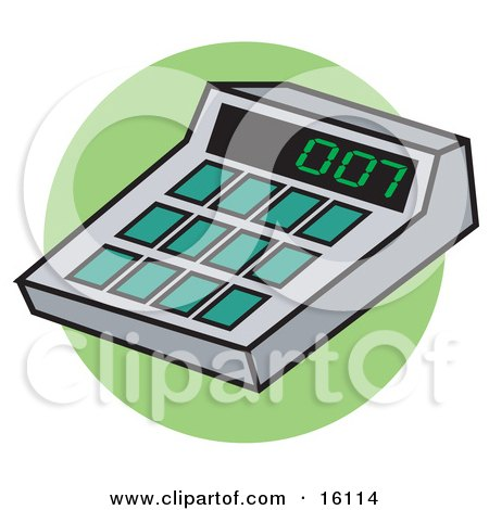 Calculator With 007 On The Display Posters, Art Prints