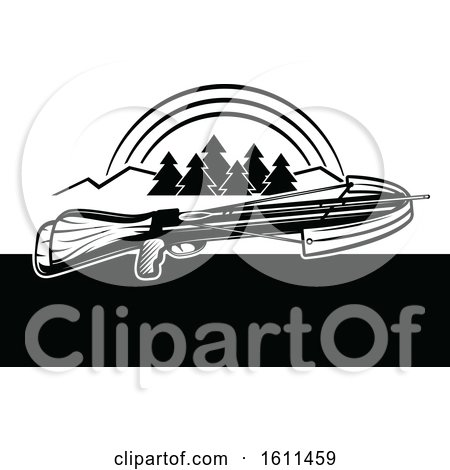 Clipart of a Crossbow Design - Royalty Free Vector Illustration by Vector Tradition SM