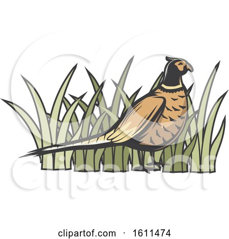 Clipart of a Bird Hunting Design - Royalty Free Vector Illustration by Vector Tradition SM
