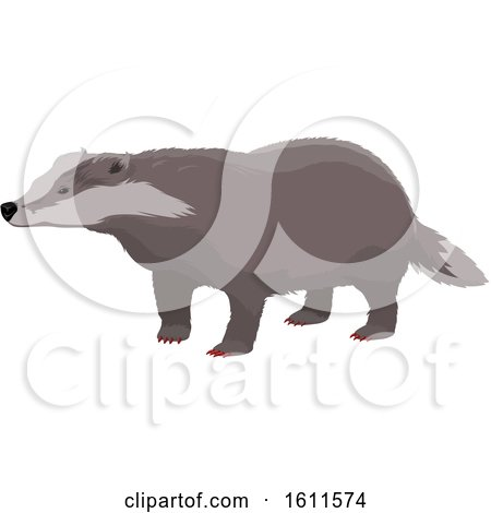 Clipart of a Badger - Royalty Free Vector Illustration by Vector Tradition SM