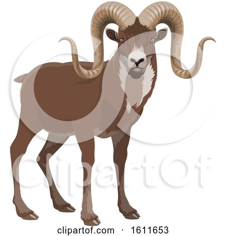 Clipart of an Antelope - Royalty Free Vector Illustration by Vector Tradition SM