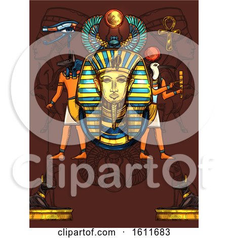 Clipart of an Ancient Egyptian Design - Royalty Free Vector Illustration by Vector Tradition SM