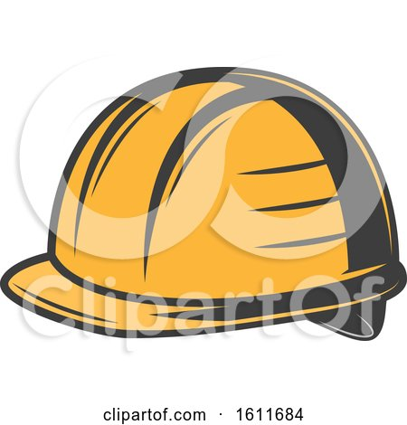 Clipart of a Hardhat - Royalty Free Vector Illustration by Vector Tradition SM