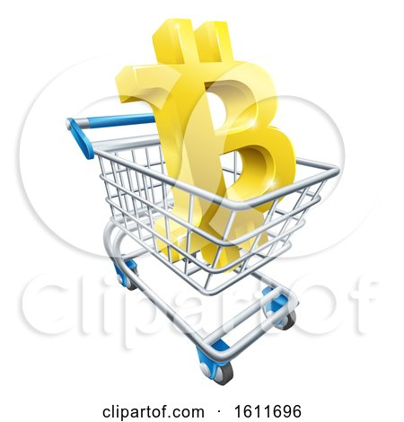 Shopping Cart Bitcoin Concept by AtStockIllustration