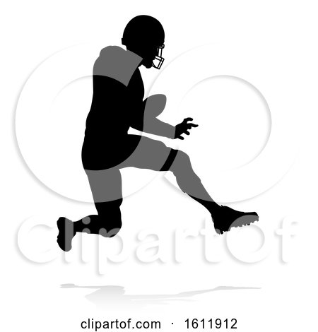 American Football Player Silhouette by AtStockIllustration