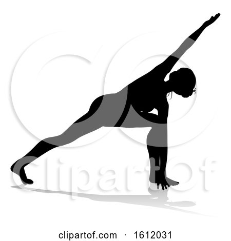 Yoga Pilates Pose Woman Silhouette by AtStockIllustration